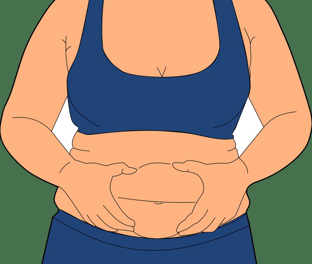 fat belly girl